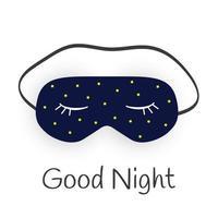gute nacht abstrakter hintergrund mit lustiger schlafmaske. Vektor-Illustration vektor