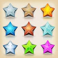 Roliga stjärnor ikoner för spel Ui