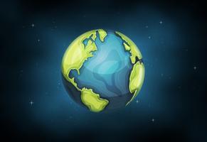 Planet Erde Hintergrund vektor