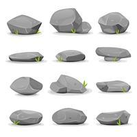 Felsen und Felsbrocken setzen vektor