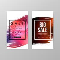 Försäljning webbplats banners