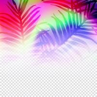 Färgglada blad bakgrundsmall vektor