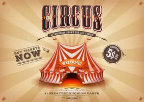 Vintage gammal horisontal cirkusaffisch vektor