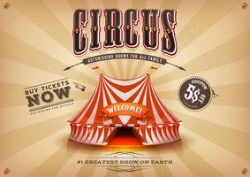 Vintage gammal horisontal cirkusaffisch