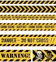 Polizeilinie, Verbrechen und warnende nahtlose Bänder vektor