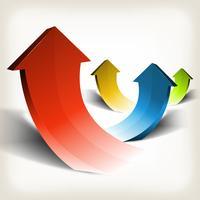 Geschäftserfolg Pfeile vektor