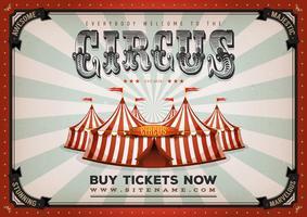 Vintage cirkusaffisch bakgrund vektor