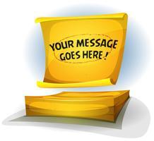 Gelbes Post-It-Hinweiszeichen