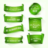 Glücklichen St Patrick Tag Pergamentrollen vektor