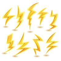 Blitzschrauben eingestellt vektor