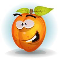 Rolig aprikosfruktkaraktär