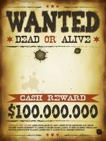 Önskad Vintage Western Poster