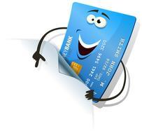 Glückliche Kreditkarte, die leeres Zeichen zeigt