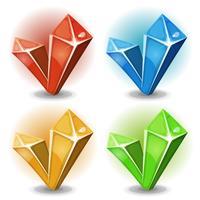 Karikatur-Edelsteine und Diamant-Ikonen vektor