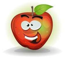 Rolig Apple Fruit Character vektor