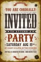 Vintage Party Einladung Hintergrund vektor