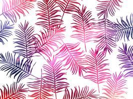 Tropiska djungel lämnar sömlös mönster bakgrund