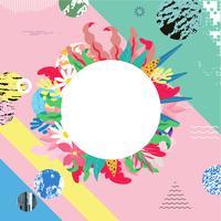 Tropischer Dschungel verlässt Hintergrund. Tropische Blumen Poster Design