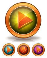 Goldene Spielknöpfe für Spiel Ui vektor