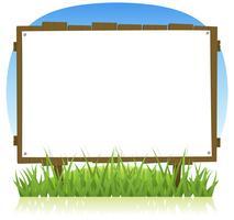 Sommer- oder Frühlings-Land-Holzanschlagtafel vektor