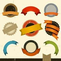 Grunge Banner, Preise und Farbbänder vektor