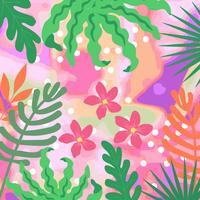 Tropiska djungeln lämnar bakgrunden