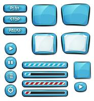 Karikatur-Diamant-Elemente für Ui-Spiel vektor