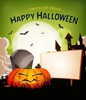 Halloween Urlaub Landschaft Hintergrund vektor