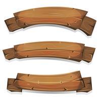 Comic Holz Banner und Bänder vektor