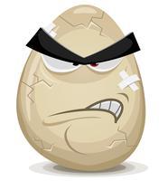 Wütender Ei-Charakter