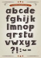 Handdragen alfabetuppsättning