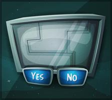 Space Scifi Sign för Ui Game vektor