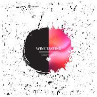 Malen Sie Splatterförderungsfahne mit Weinstockblatt für Weinprobeereignis