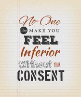 Inspirational Zitat auf Vintage Schulpapier