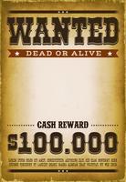 Wanted Western Poster Hintergrund vektor