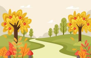 Herbstlandschaft Hintergrund vektor