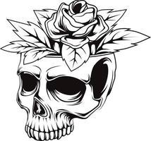 25. Schädel Blumen Vektor