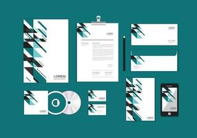 Corporate Identity-Vorlage für Ihr Unternehmen enthält CD-Cover, Visitenkarten, Ordner, Umschläge und Briefkopfdesigns Nr. 16 vektor