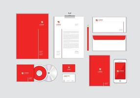 Corporate Identity-Vorlage für Ihr Unternehmen enthält CD-Cover, Visitenkarten, Ordner, Umschläge und Briefkopfdesigns Nr.9 vektor