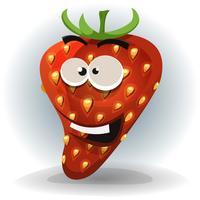 Lustiger Erdbeercharakter