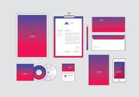 Corporate Identity-Vorlage für Ihr Unternehmen enthält CD-Cover, Visitenkarten, Ordner, Umschläge und Briefkopfdesigns Nr.11 vektor