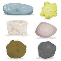 Stenar, mineraler och stenar vektor
