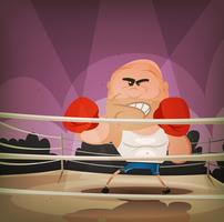 mästare boxare på ringen vektor