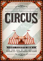 Vintage design cirkusaffisch