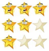 Lustige Sterne Icons für Ui Game Score vektor