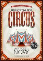 Vintage gammal cirkusaffisch vektor