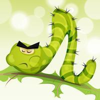Rolig Caterpillar karaktär