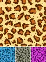 Seamless Leopard eller Cheetah Fur Bakgrund vektor