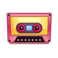 Retro-Musikkassette vektor