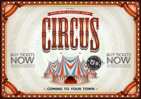 Weinlese-altes Zirkus-Plakat